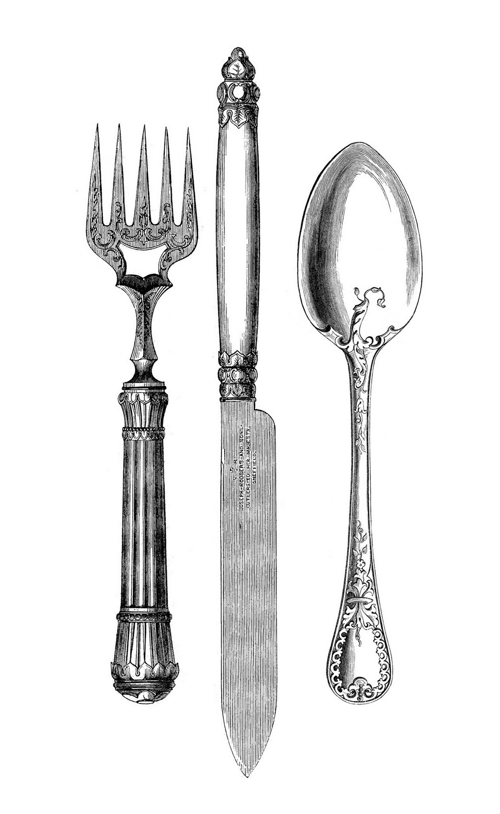 hight resolution of 7 free fork and spoon clipart