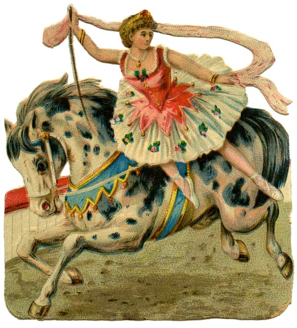 Vintage Graphic - Circus Girl Horse Graphics Fairy