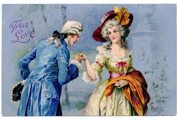 Romantic Vintage Couple Valentine