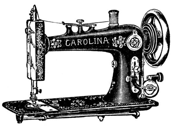 vintage clip art - antique sewing