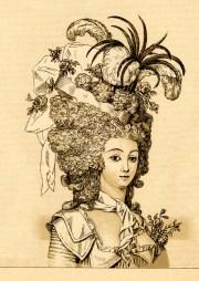 vintage clip art - marie antoinette