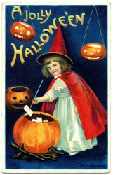 halloween witch clip sweet cards cute card happy pumpkins antique graphics postcards jolly postcard clapsaddle victorian witches greeting graphic printable