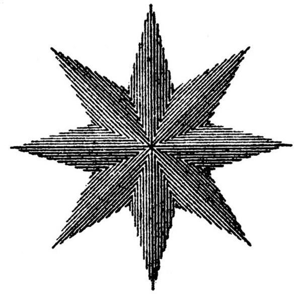 Vintage Steampunk Clip Art - Compass Rose Star Graphics Fairy