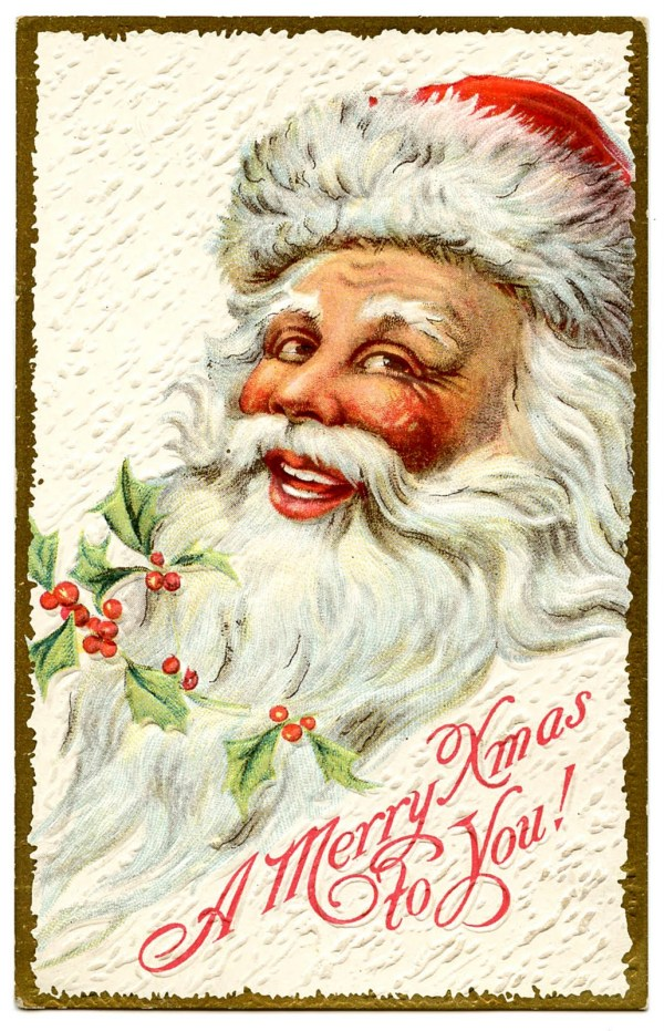 vintage christmas clip art - jolly
