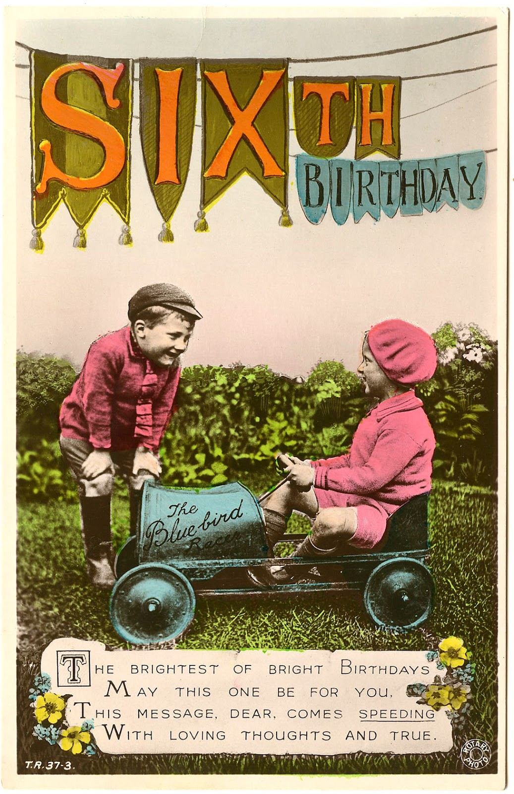 Old Photo Kids With Pedal Car Birthday The Graphics