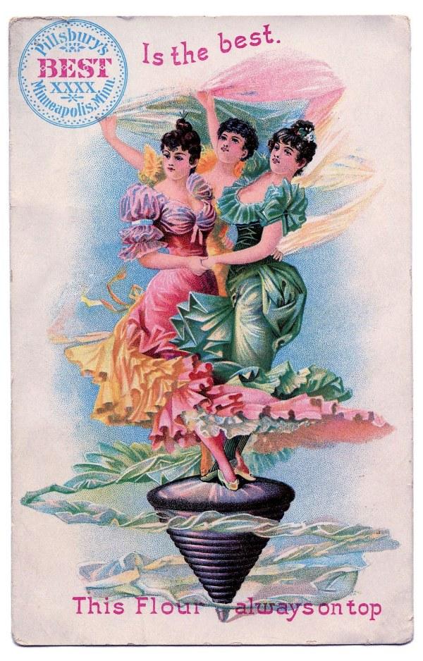Vintage Graphic - Dancing Ladies Advertising Graphics Fairy