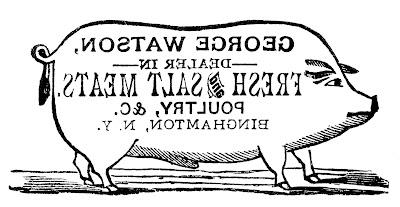 Transfer Printable – Pig Sign
