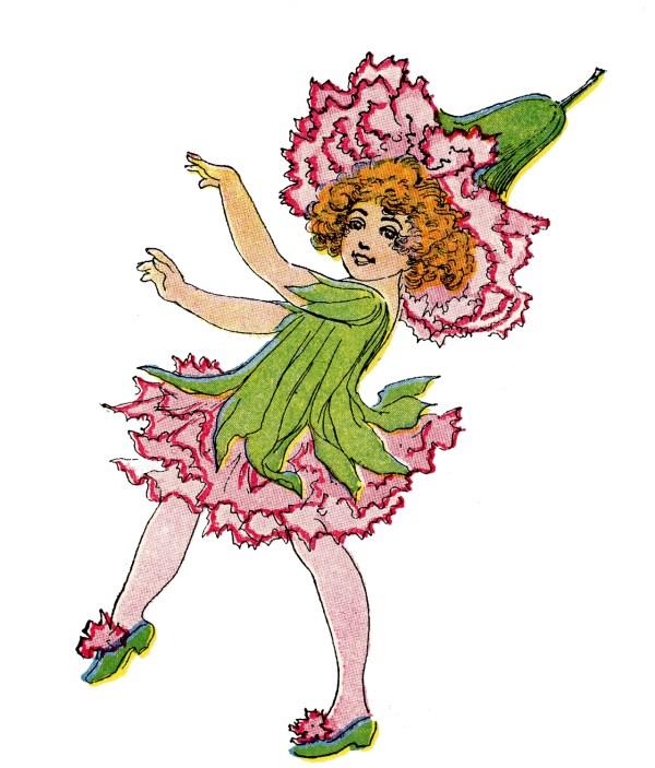 Graphic Fairy Vintage Flower