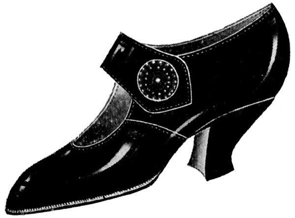vintage clip art - ladies shoes
