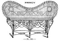 Vintage Clip Art - Fancy Wire Settee - Garden - The ...