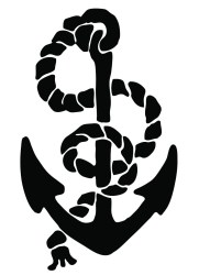 anchor clip nautical graphics rope enlarge
