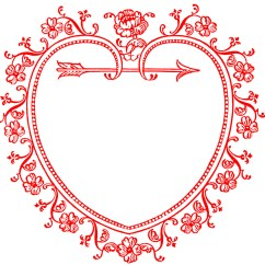 Vintage Red Real Heart Diagram 2003 Dodge Ram 2500 Power Window Wiring Valentine 39s Day Clip Art Sweetest Frame