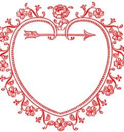 vintage valentine s day clip art sweetest heart frame [ 1350 x 1265 Pixel ]