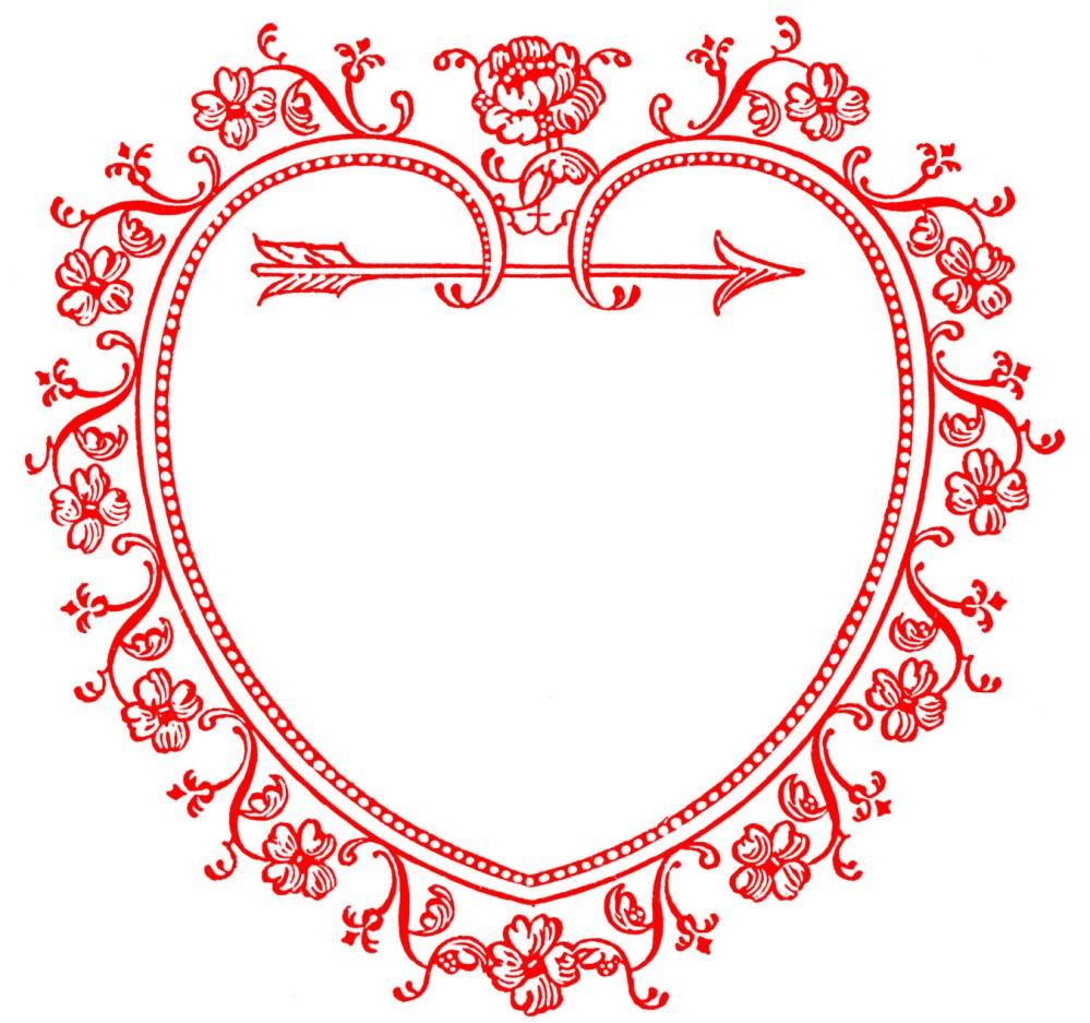 medium resolution of vintage valentine s day clip art sweetest heart frame