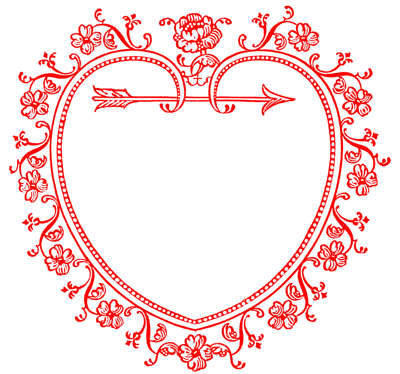 hight resolution of vintage valentine s day clip art sweetest heart frame