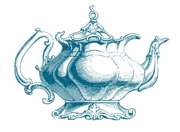 vintage clip art - teapot