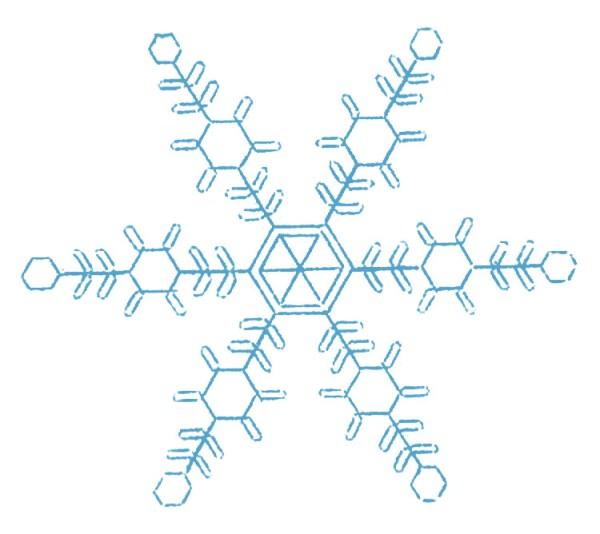 vintage clip art - pretty snowflakes