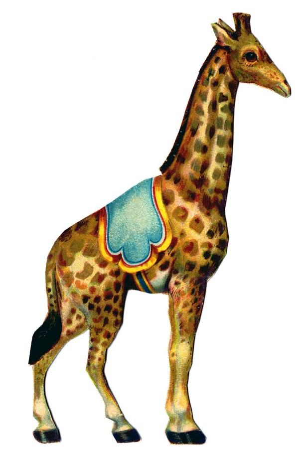 Vintage Graphic - Circus Giraffe Graphics Fairy