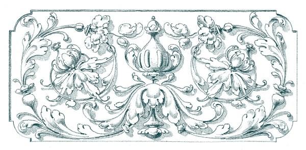 antique clip art - romantic scrolls