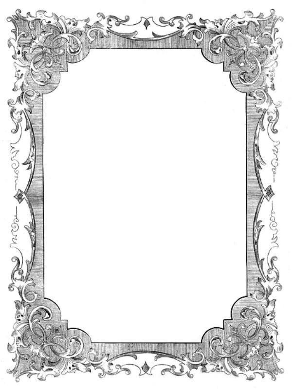 vintage clip art - romantic frames