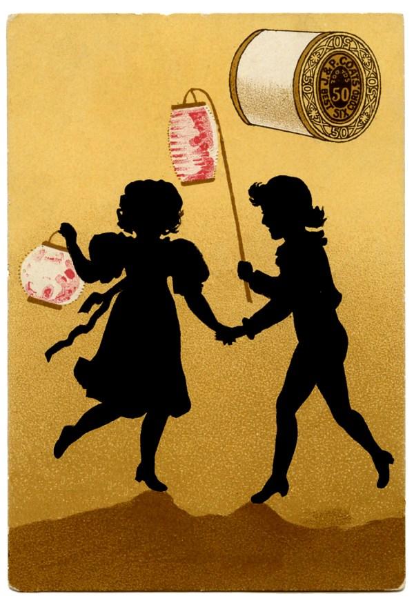 Vintage Fairy Silhouette Clip Art