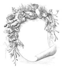 clip frames floral frame rose round scroll flowers gorgeous classic graphics bingkai fairy church briefpapier poto tattoo prints thegraphicsfairy dear