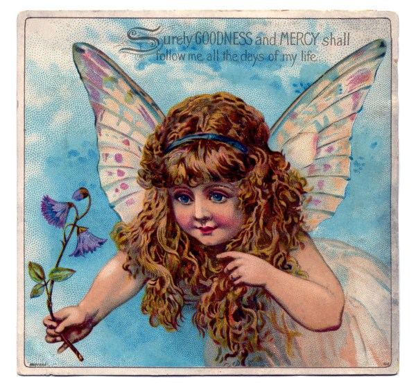 Vintage Graphic - Exceptionally Pretty Fairy Child
