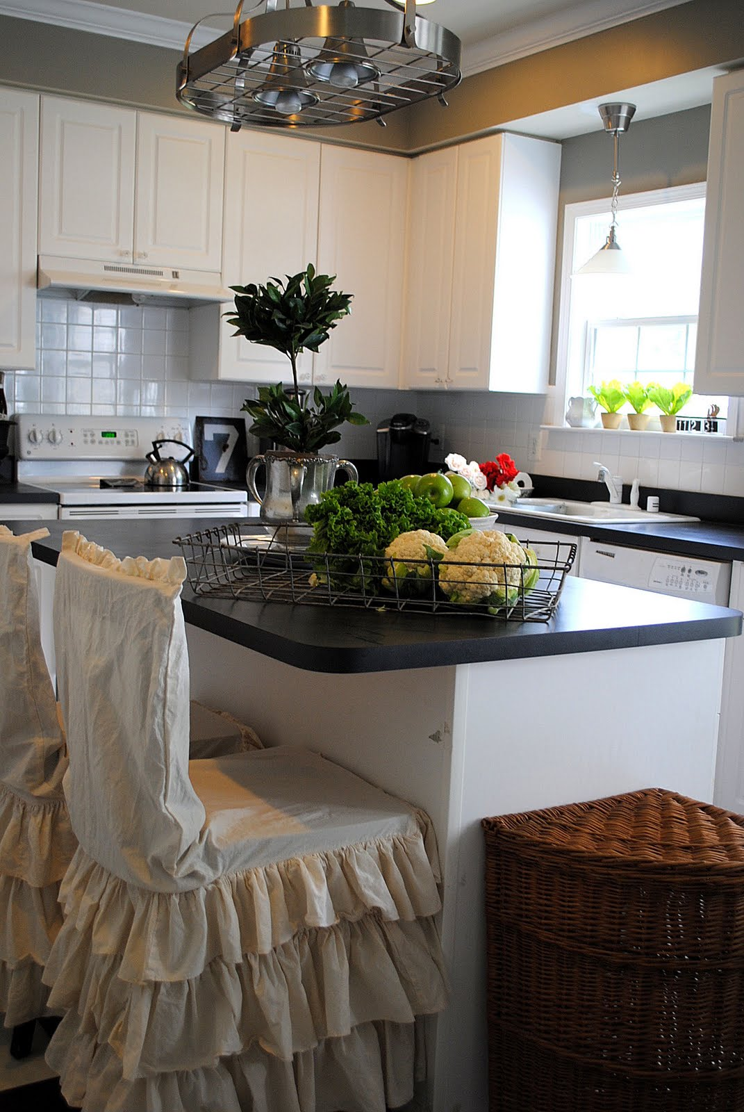 kitchen island table with chairs stainless steel countertops our house - the tour graphics fairy