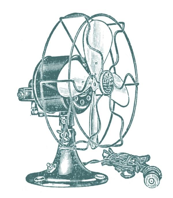 vintage clip art - electric fans