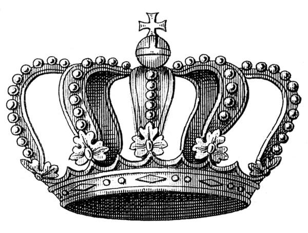 vintage clip art - beautiful crown