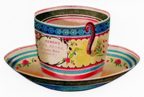 free vintage clip art - tea cup