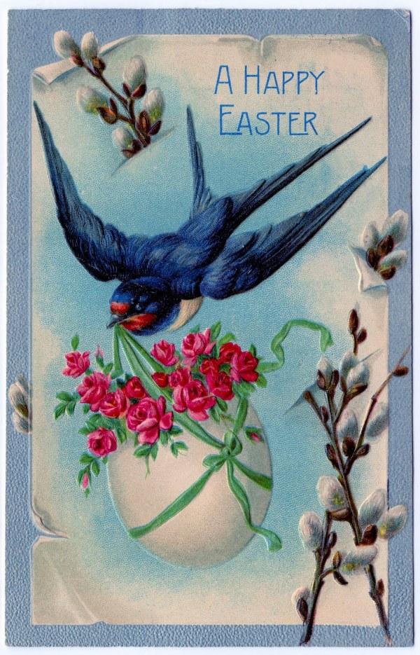 Vintage Clip Art - 3 Fabulous Easter Cards Graphics