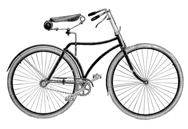 vintage clip art - bicycle