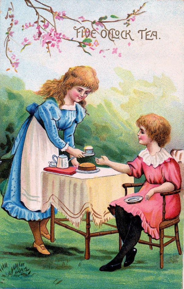 Vintage Clip Art - Alice In Wonderland Alike