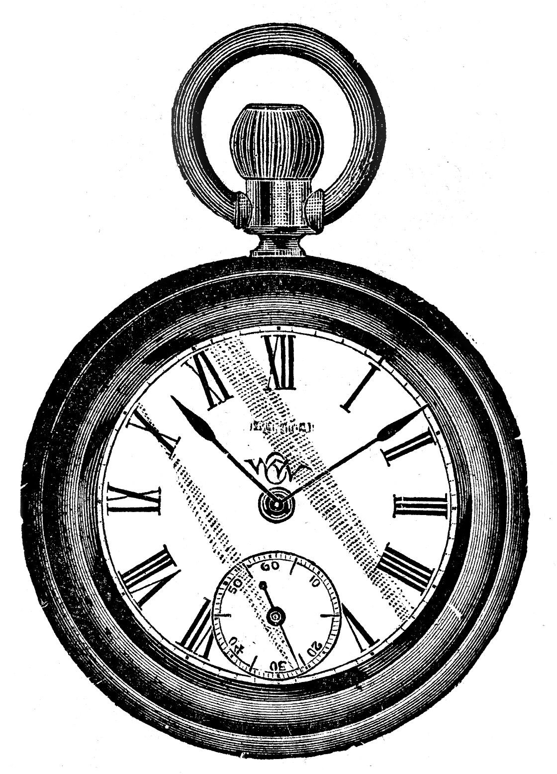 hight resolution of vintage clip art antique pocket watch