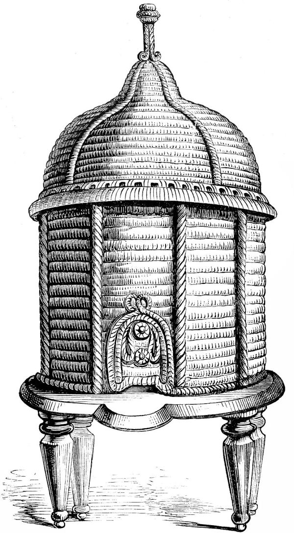 vintage clip art - ornate bee hive