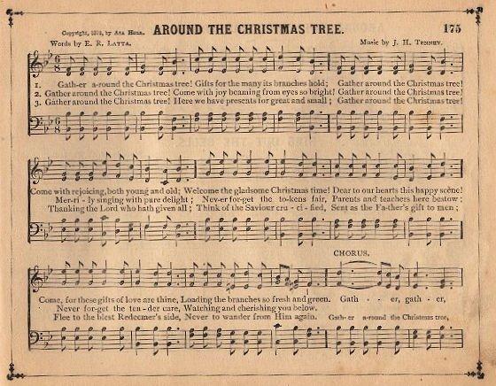 Christmas Sheet Music Print You Can