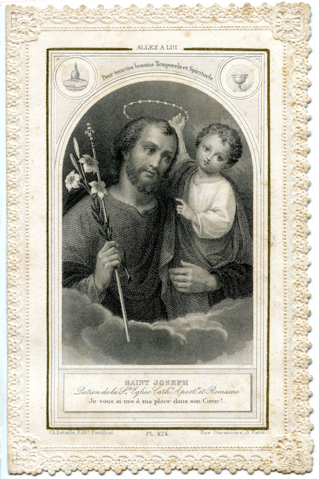 Free Antique Clip Art Wonderful French Holy Card The