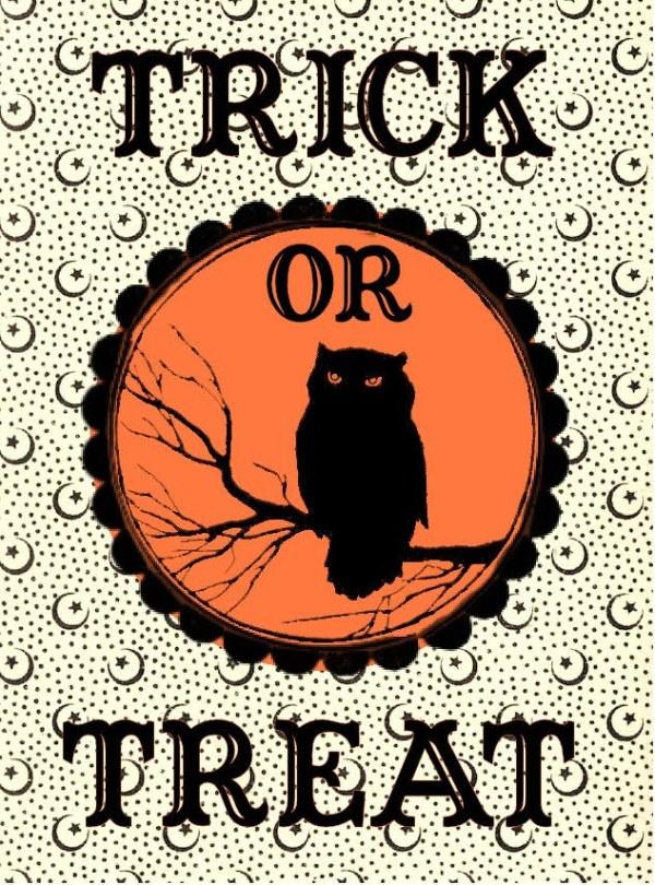 free halloween printable - trick