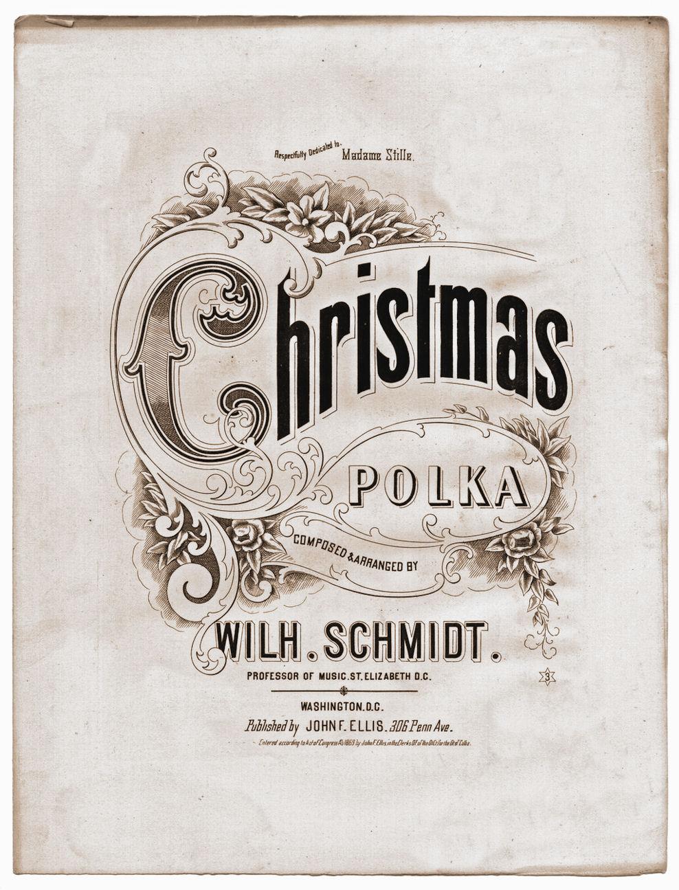 Free Vintage Clip Art Christmas Sheet Music The