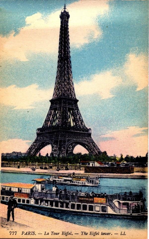 Antique Paris - Eiffel Tower Graphics Fairy