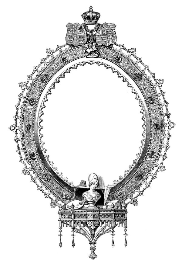 Antique Clip Art Ornate Engraved Frame The Graphics Fairy