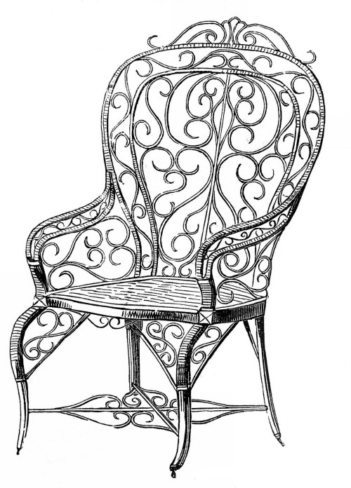 small resolution of vintage clip art wicker garden chair