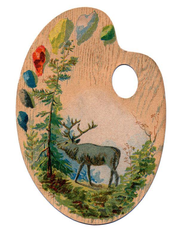 Vintage Artists Palette Clip Art