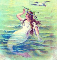 Vintage Clip Art - Beautiful Mermaid - The Graphics Fairy