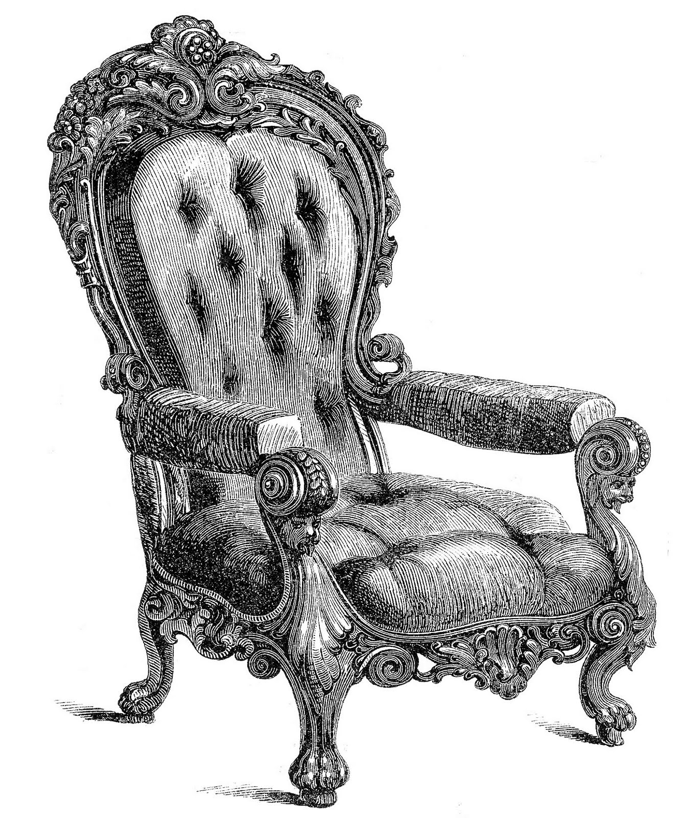 hight resolution of today i m sharing these 2 clip art images of some very ornate chairs the chairs were made in vienna they come from an old 1850 s catalog