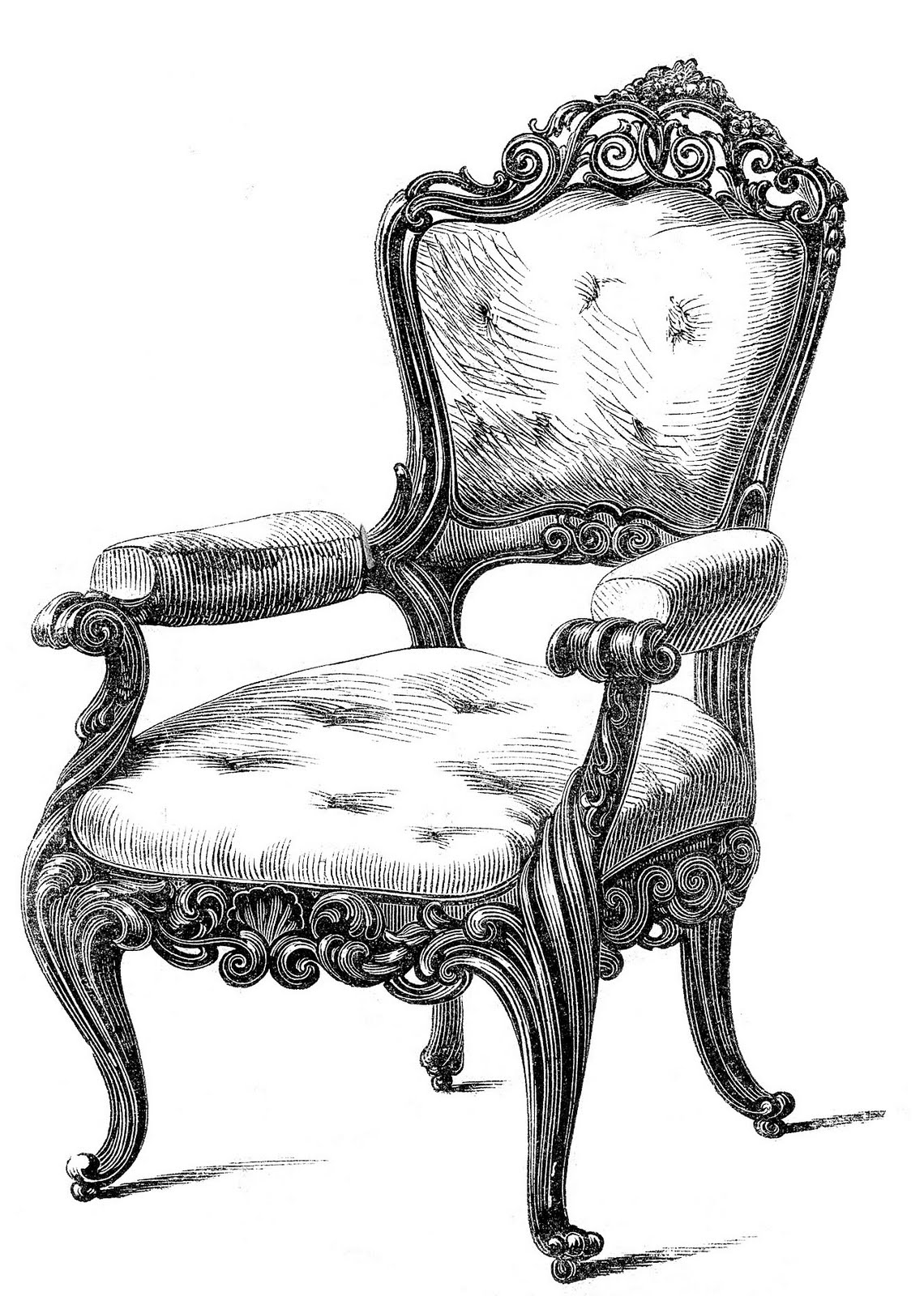 hight resolution of vintage clip art 2 fancy chairs