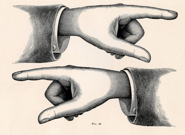 Vintage Pointing Hand Clip Art