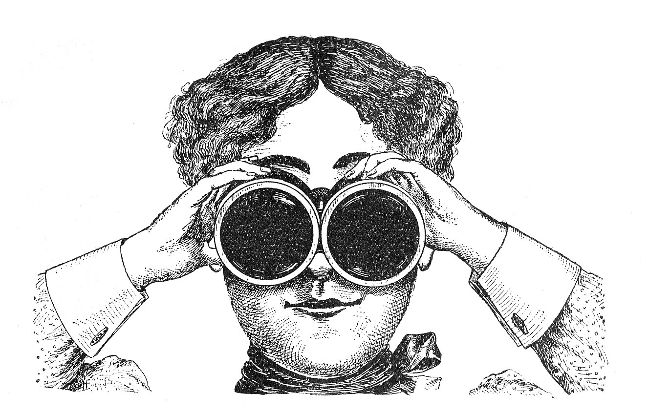 Fabulously Quirky Lady With Binoculars