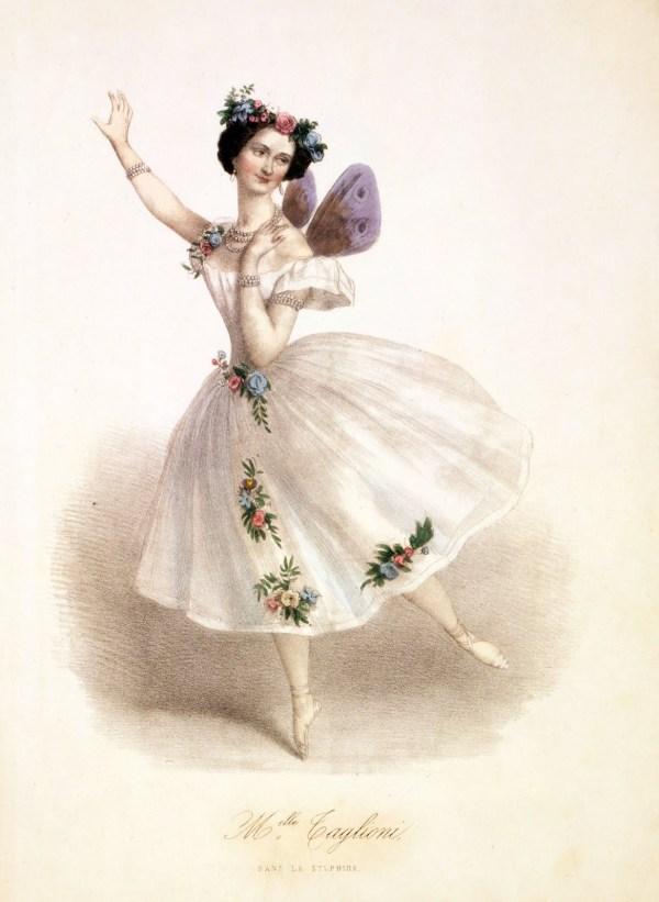 Antique Clip Art - Gorgeous Ballerina Fairy Graphics